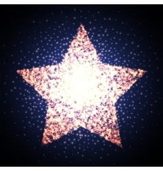 Retro star glowing light banner Award shiny vector image