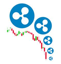 Ripple deflation chart flat icon vector
