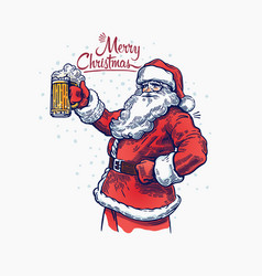 Santa and beer 2016 vector