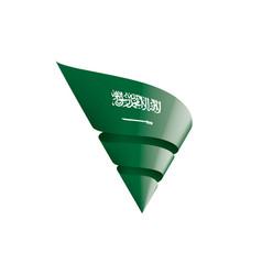 saudi arabia flag on a white vector image