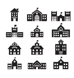 school building icon royalty free vector image rh vectorstock com School Vector Graphics school vector art