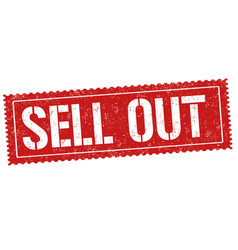 Sell out sign or stamp vector