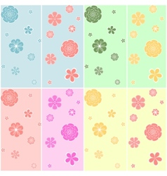 Set of colorful seamless pattern vector image