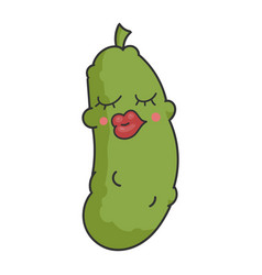sexy funny dill pickle cartoon vector image
