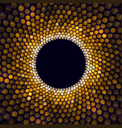 Show light circle golden star circle background vector
