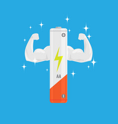 single white and very strong muscle full power aa vector image