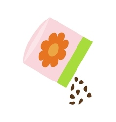 Small bag of flower seeds icon isometric 3d style vector image vector image