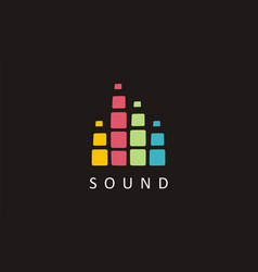 sound music logo music notes festival logo art vector image