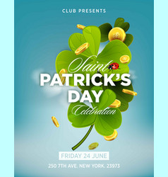 St patrick s day green beer party invitation vector