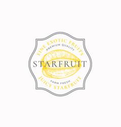 Starfruit purveyors frame badge or logo template vector