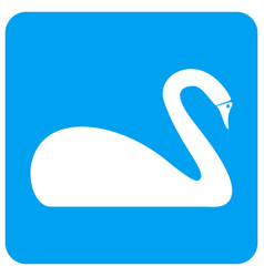 Swan rounded square icon vector