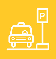 Taxi stand vector