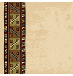 Vintage ethnic background seamless ornament vector