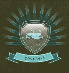 vintage retro car logo vector image