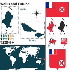 wallis and futuna map vector image