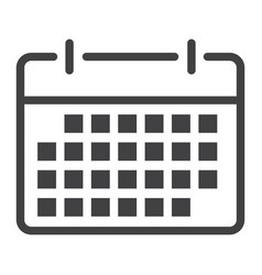 calendar line icon web and mobile date sign vector image vector image