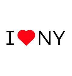 i love ny popular symbol heart vector image vector image