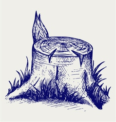 Old tree stump vector image vector image