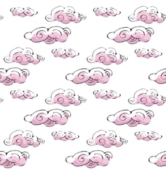 seamless pattern cloud art background design for vector image vector image