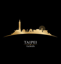 taipei taiwan city skyline silhouette black vector image vector image