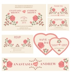 Wedding invitationWedding collection vector image