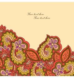 Decorative ornamental border with bright floral vector image vector image