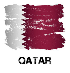 flag of qatar from brush strokes vector image