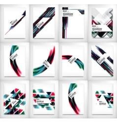 Flyers brochure design templates set layouts vector