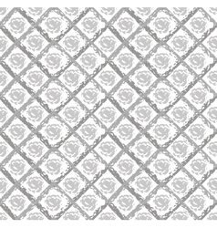 Gray grunge pattern with circles and rhombuses vector image vector image