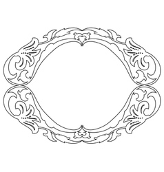 oval baroque ornamental decorative frame vector image vector image