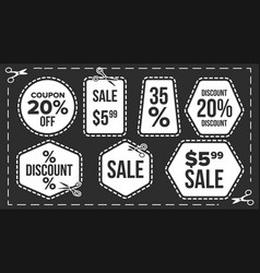 sale banners set craft blade cutout vector image vector image