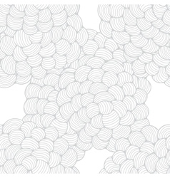 Seamless abstract wave hand-drawn pattern vector image vector image