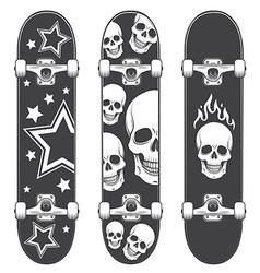 Skateboard print vector image vector image
