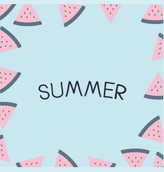 Summer holiday vacation flat design vector