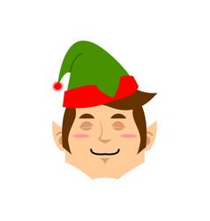 Christmas elf sleeping emoji santa helper asleep vector