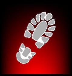 footprint boot vector image