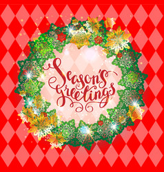 holiday season red frame vector image vector image