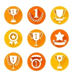 Trophy and Awards Icons vector image