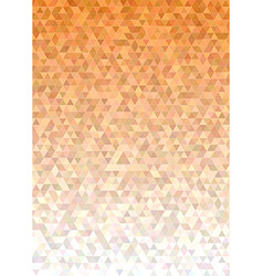 Abstract triangle mosaic background design vector image
