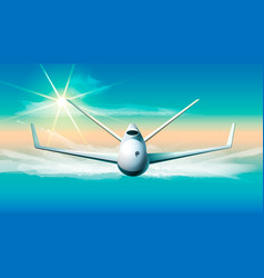 drone flying in the sky of vector image vector image