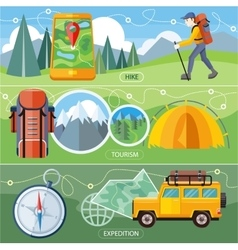 Hike Expedition and Tourism vector image vector image