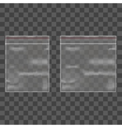 Template blank transparent package set vector