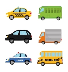 Vehicles and transport vector image