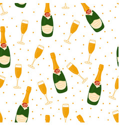 2021 new year celebration pattern with vector image