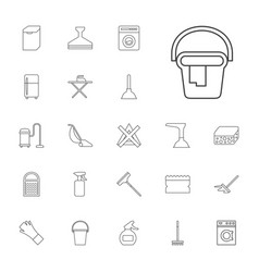 22 household icons vector