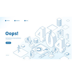 404 isometric page not working error lost data vector