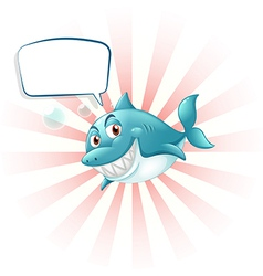 A shark with an empty callout vector image