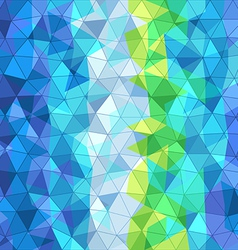 Abstract background of different color triangles vector