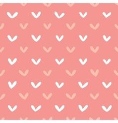 Abstract hand drawn hearts seamless pattern vector image
