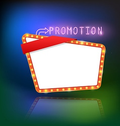 Abstract retro light promotion banner vector image